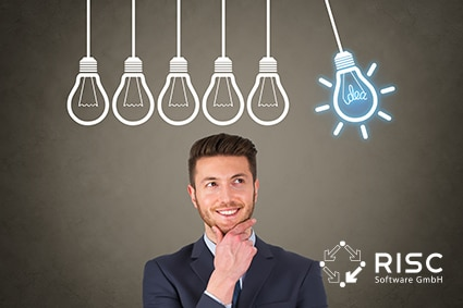 Businessman New Bright Idea